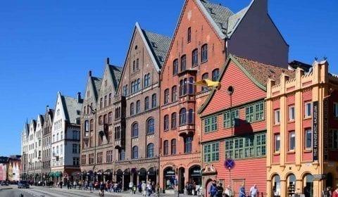 11UNESCO's Hanseatic quater of Bryggen in Bergen, Norway