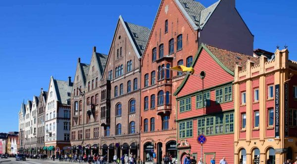 UNESCO's Hanseatic quater of Bryggen in Bergen, Norway