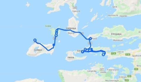 11Google plan du tour Ålesund une Visite Touristique Incomparable