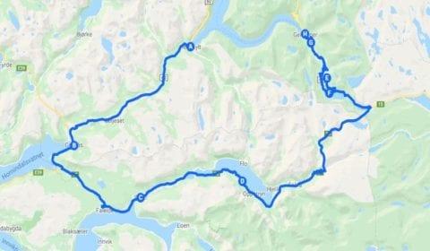 Google plan du tour Hellesylt Privé Tour Panoramique à Geiranger