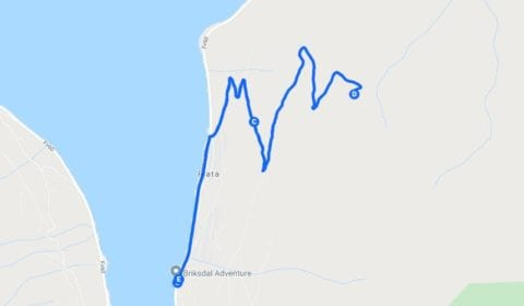 Google plan du tour Olden Privé L'impressionnante Trekking à Huaren