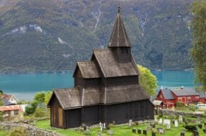 The UNESCO World Heritage site of the Urnes Stave church in Ornes, Sogn og FJordane, Norway