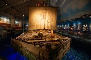 Raft at the Kon-tiki Museum in Oslo, Norway.