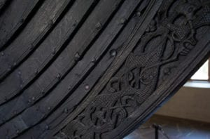Detail of Viking ship, Viking museum, Oslo